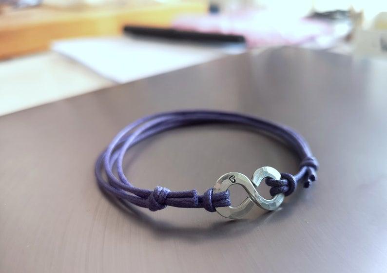 bracciale Infinity cotone 3